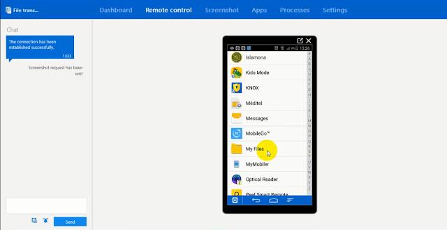 عرض شاشة هاتف الأندرويد على الكمبيوتر دون كابل أو روت عبر تطبيق TeamViewer