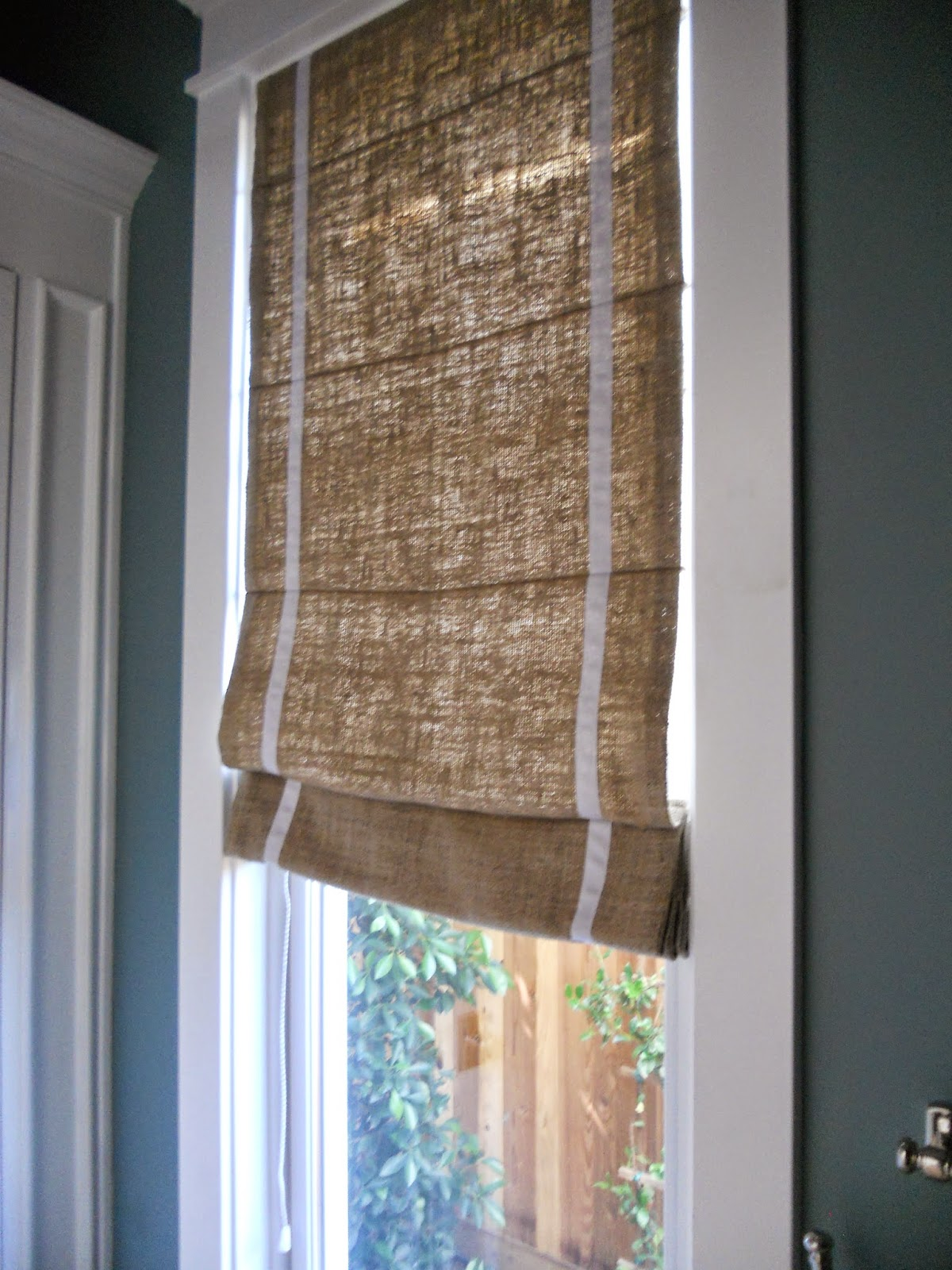 A Little Of This That And The Other Silk Burlap Roman Shade