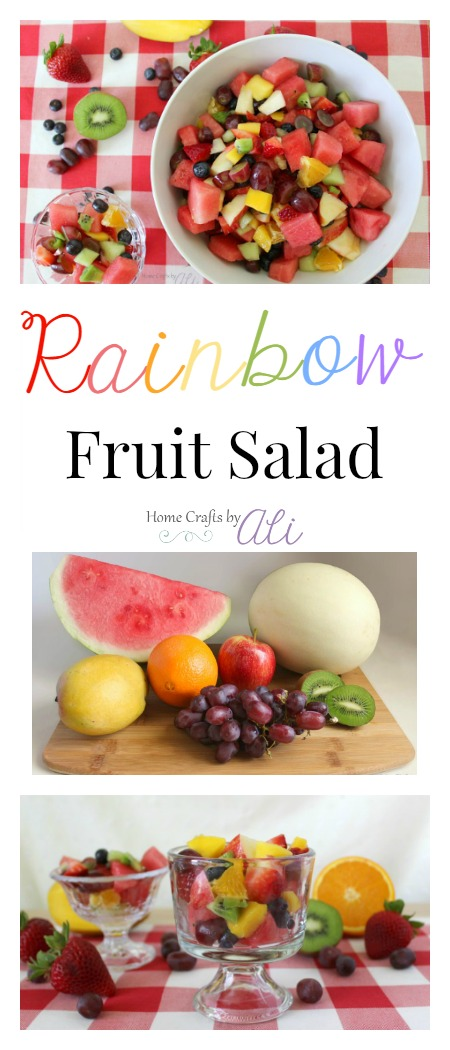 refreshing fruit salad made with a rainbow of fruits
