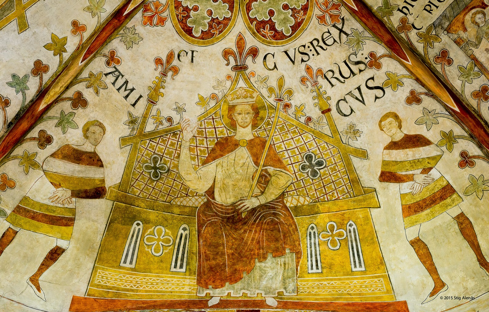 medieval, mural, throne, editorial, fresco, denmark, backgammon, romanesque, st. bendt church, canute lavard, board game, wall-painting, ringsted