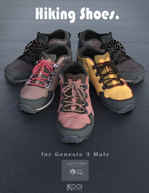 Hiking Shoes for Genesis 3 Male