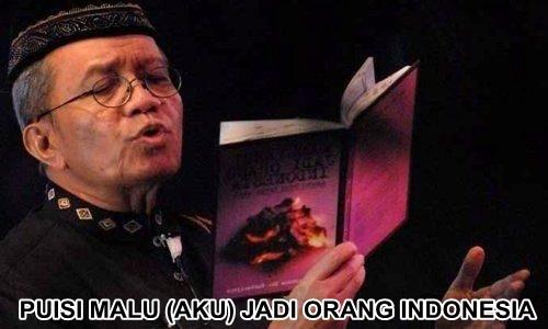 PUISI MALU (AKU) JADI ORANG INDONESIA