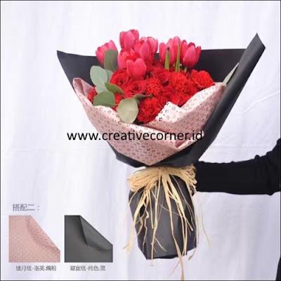 Kertas Buket Bunga / Hand Bouquet Seri LY-060060