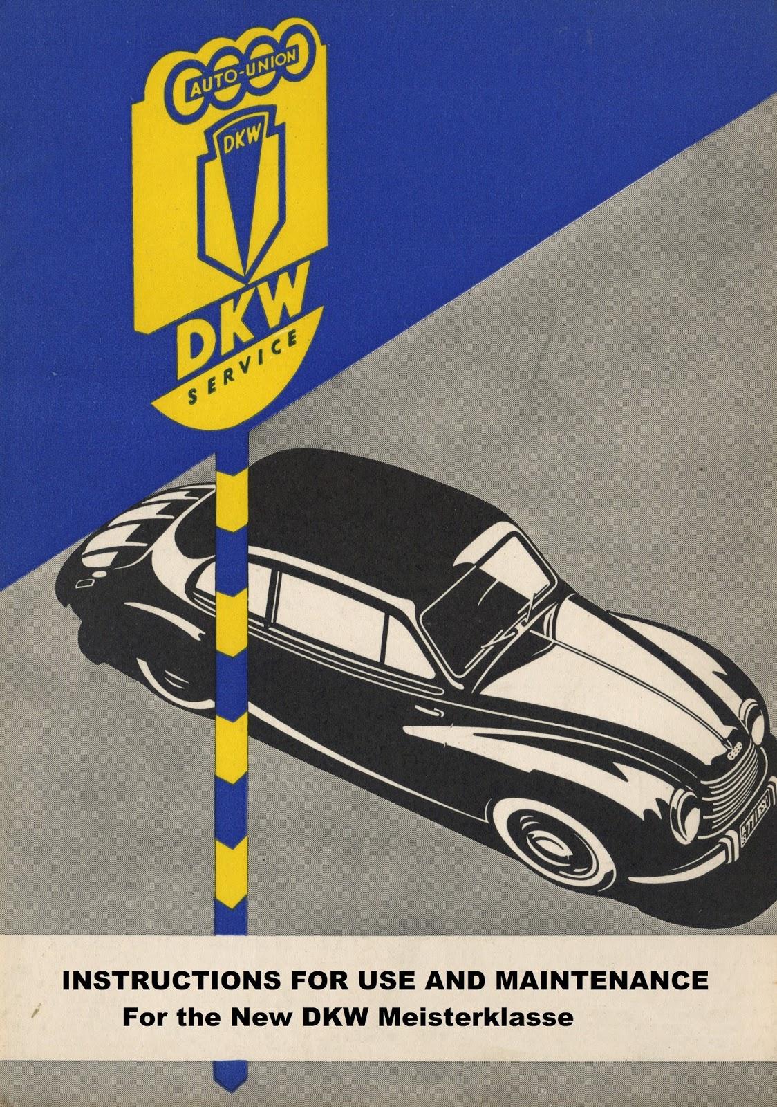 DKW F89P New Meisterklasse driver manual
