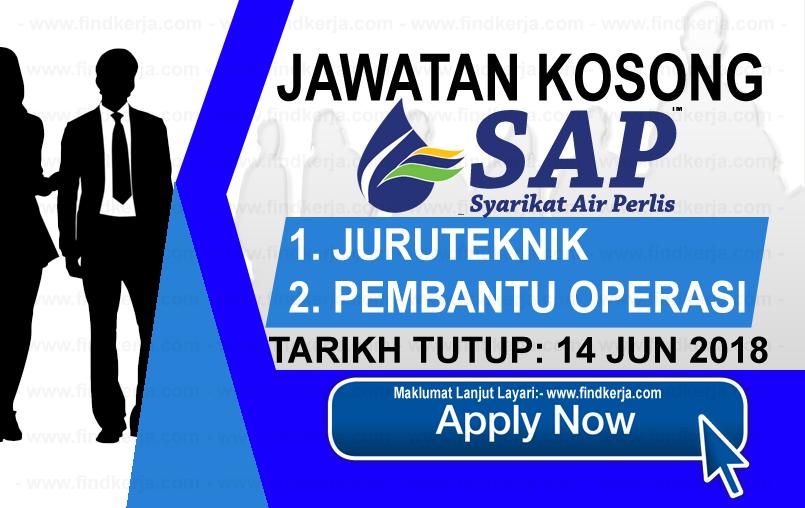 Jawatan Kerja Kosong Syarikat Air Perlis Sdn Bhd logo www.findkerja.com www.ohjob.info jun 2018