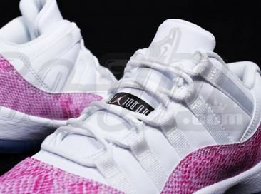"buy online 561ab 201af Air Jordan 11 Retro Low GS ""Pink"" Snakeskin Sneaker (Detailed New Images)"