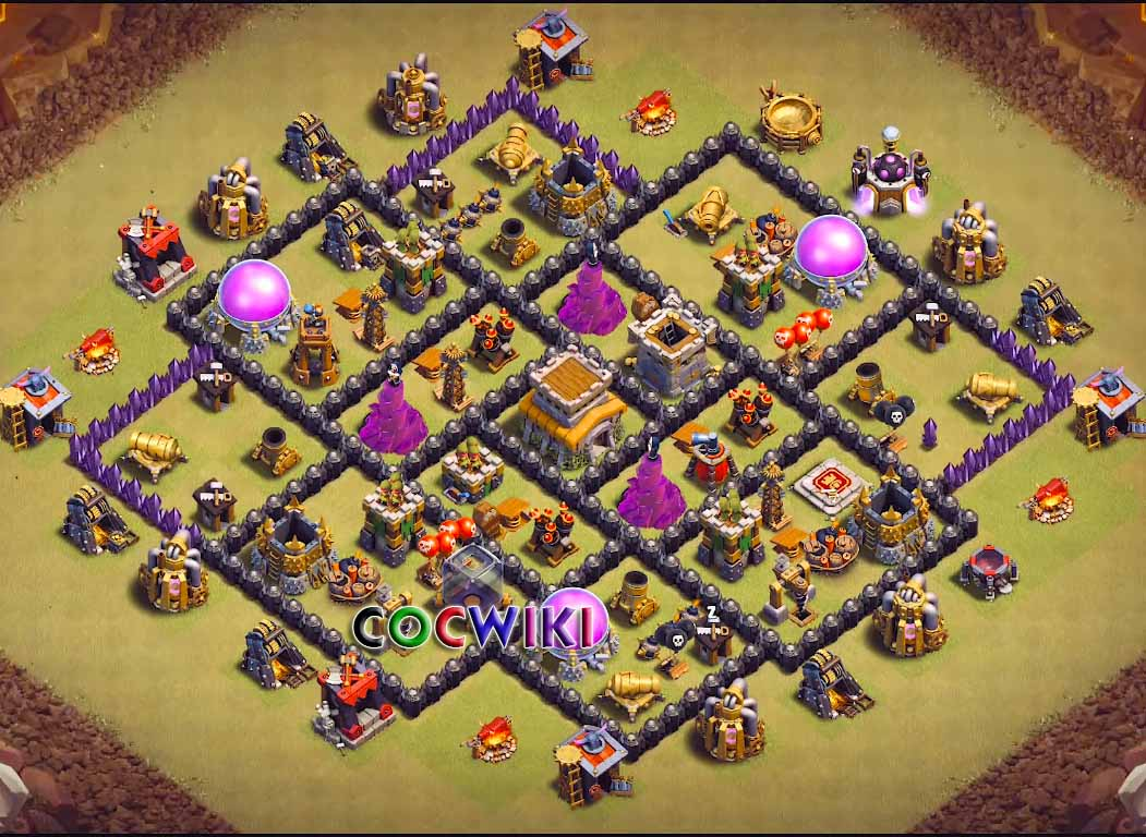 14+ Best Town Hall 8 War Base for 2019 Anti Dragons.