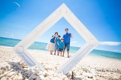 家族写真 沖縄 海