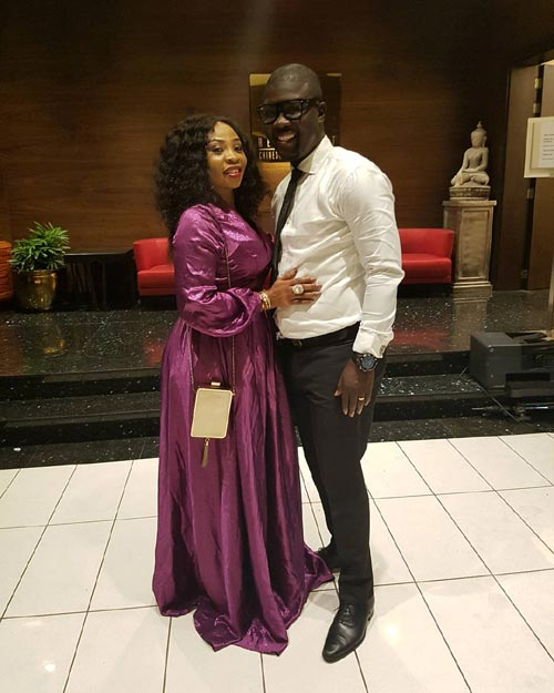 Seyi Law's Wife, Ebere, Steps Out In Flowing Purple Gown