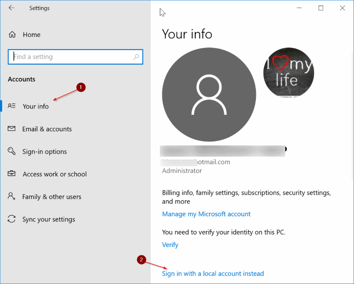 How To Change from Microsoft Accounts to Local Accounts In Windows