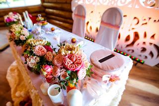 персиковые свадебные аксессуары
