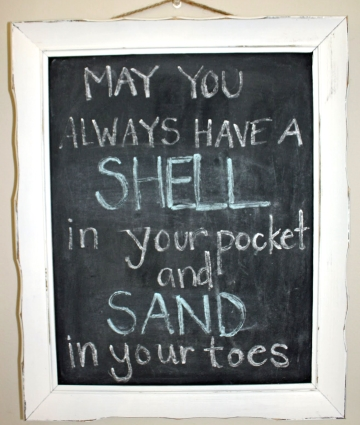 chalkboard frame may you always have a shell in your pocket