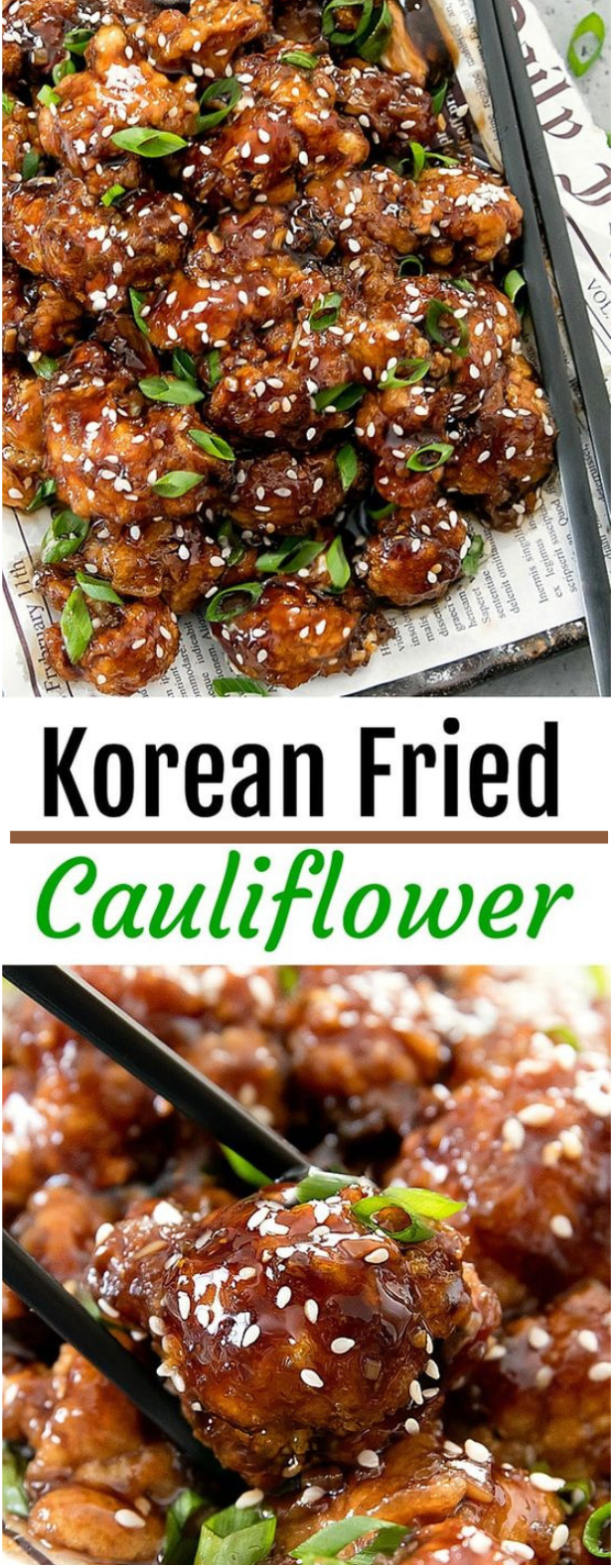 KOREAN FRIED CAULIFLOWER #cauliflower #vegetarian