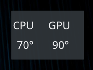 KDE Thermal Monitor Plasmoid / Widget