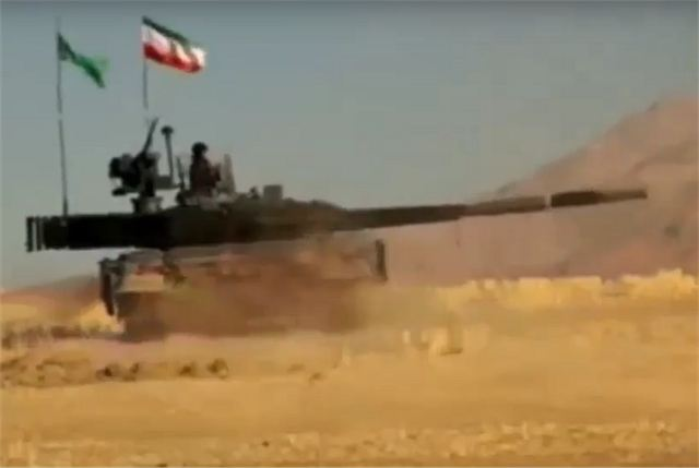 9d9d14dbf5f6 New Iranian-made Karrar MBT Main Battle Tank unveiled by local television  footage.