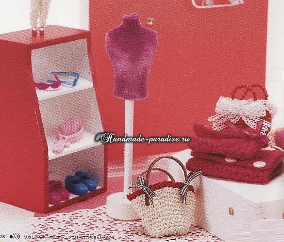 Вязаная одежда для кукол. Японский журнал со схемами (18)