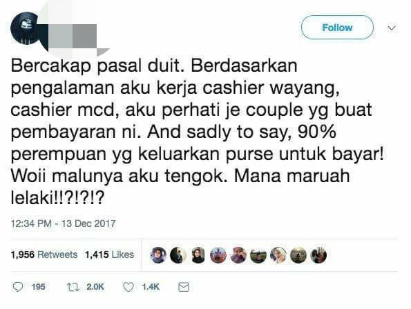 Keluar Dating,  Siapa Patut Belanja?