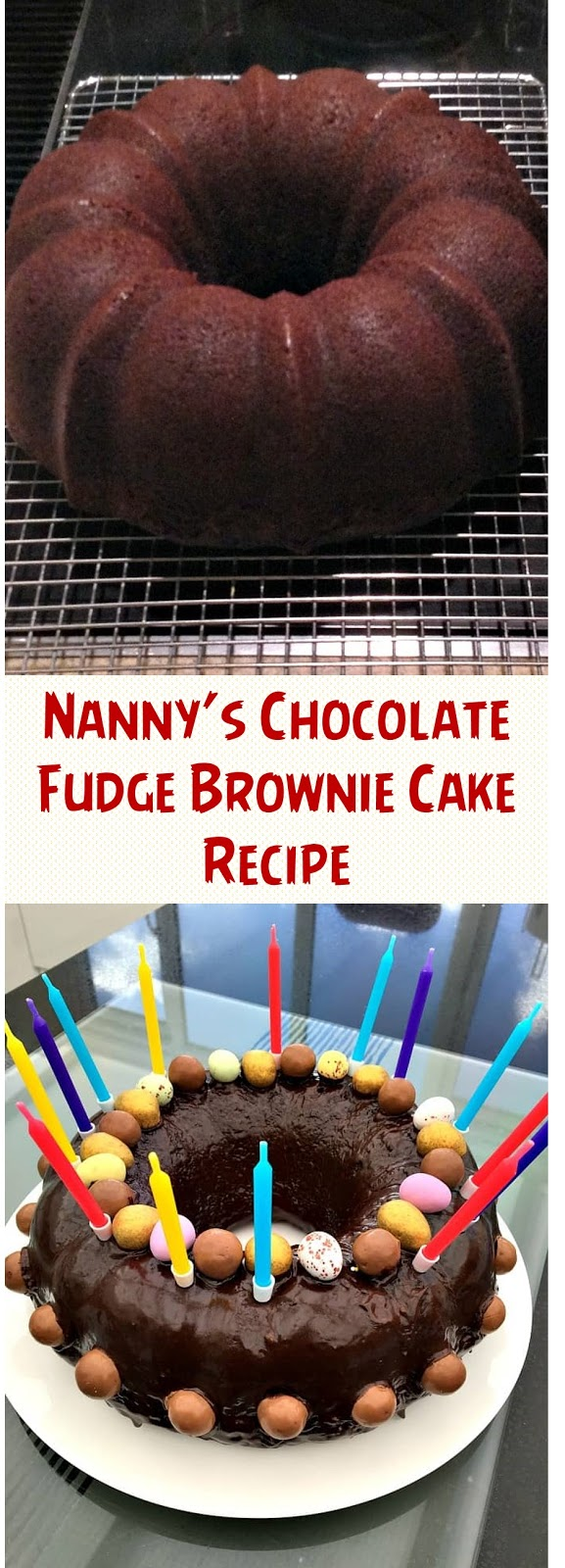 Nanny's Chocolate Fudge Brownie Cake Recipe