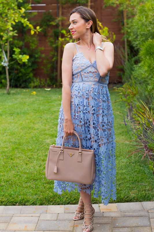 lace cami midi dress