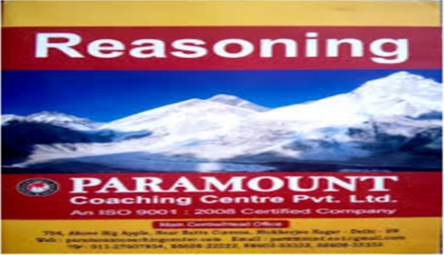 Book-PDF: Paramount's Reasoning E-Book- SSC Officer