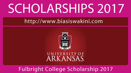 Fulbright College Scholarship 2017