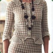 Blusa y Falda tejida a Crochet