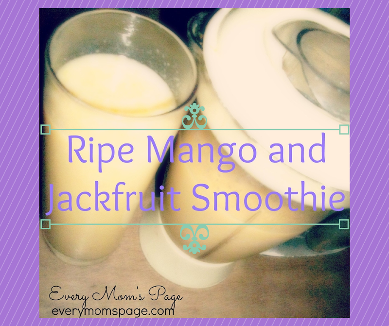 Cool Down with Ripe Mango-Jackfruit Smoothie
