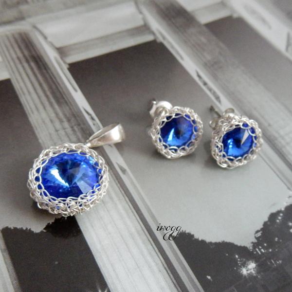 delikatny komplet biżuterii ślubnej