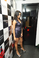 Sanjana looks happy in sparkling short Deep neck Purple Gown ~  Exclusive 02.JPG