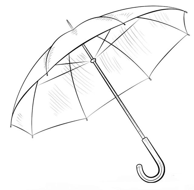 Gambar Mewarnai Payung - 12