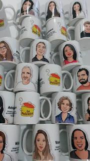 caricaturas on line, caricatura na caneca