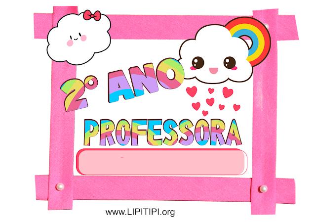 Placas para porta de sala de aula 1° a 5° ano tema CHUVA DE AMOR