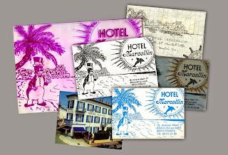Realisation Dune Carte De Visite Pour Lhotel Marcellin A Beaulieu Sur Mer