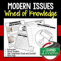 Modern Issues, Progressive Era, American History Activity, American History Interactive Notebook, American History Wheel of Knowledge