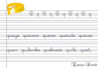 caderno de caligrafia letra R