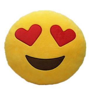 Cojín Emoji ojos de corazón