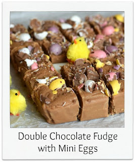 This Double Chocolate Fudge recipe produces a delicious melt in the mouth confectionery.  The addition of mini eggs not only makes it a perfect recipe for Easter treats, but also introduces a fun pop of colour and a wonderful contrast in texture.
