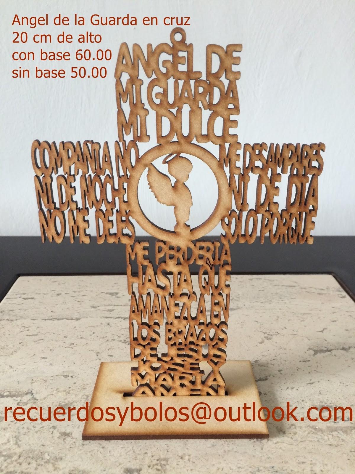 Bolos y recuerdos para Bautizo y Primera Comunion Cruces de madera con el Padre Nuestro