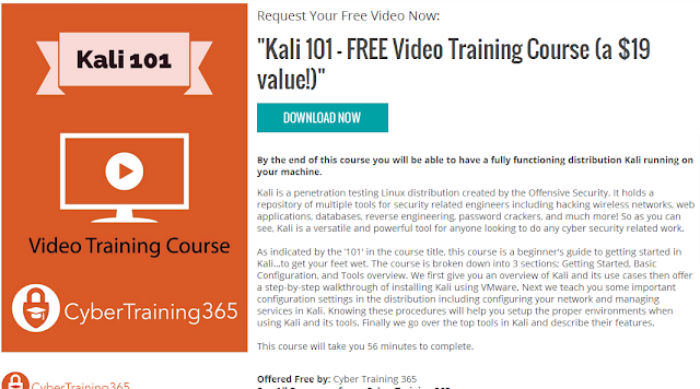 Kali 101 Video Training Course Free