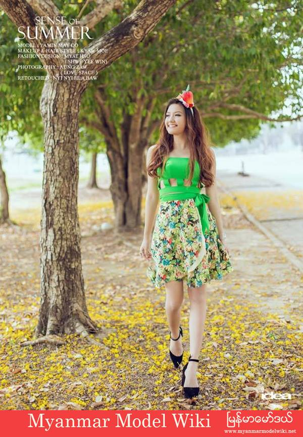 Thazin Ko Ko In Sense Of Summer Fashion Photoshoot for Idea Magazine