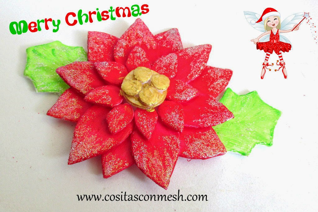 manualidades-flor-navideña