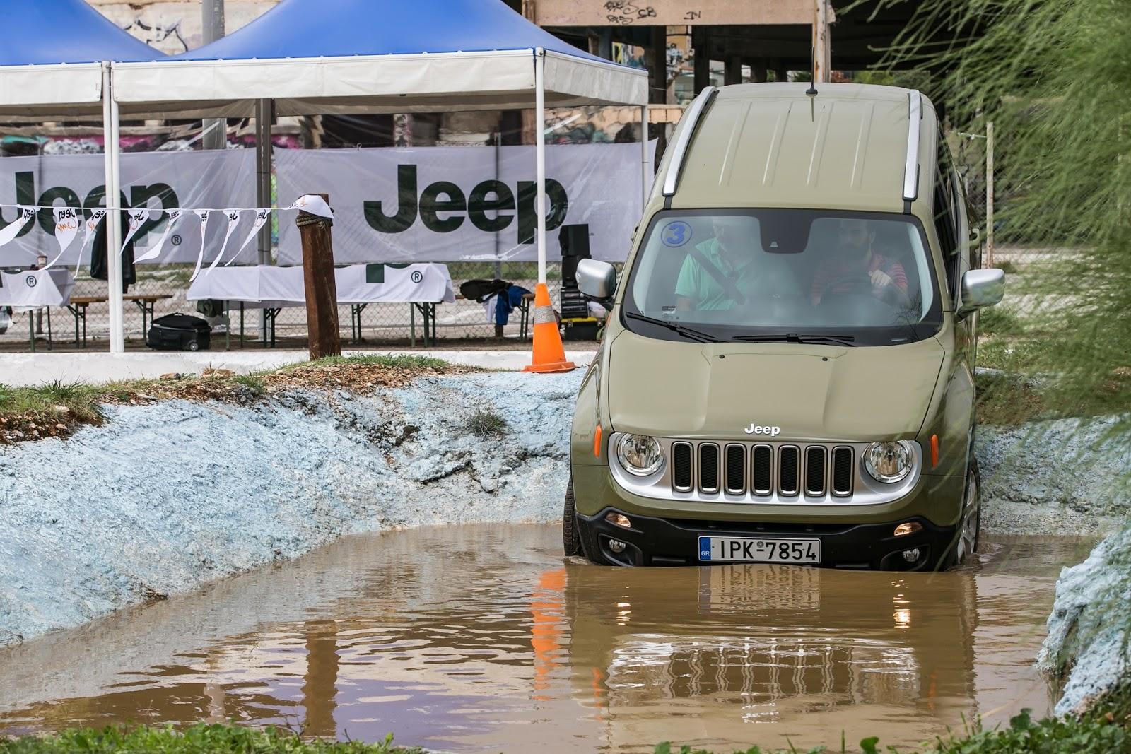 KF 1611 Πετάμε ένα Jeep Renegade σε λάσπες, πέτρες, άμμο, λίμνες. Θα τα καταφέρει;