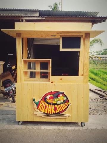 Booth kayu minimalis, booth kayu portable