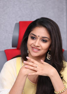 Keerthy Suresh in Yellow Dress at Mahanati Press Meet 1