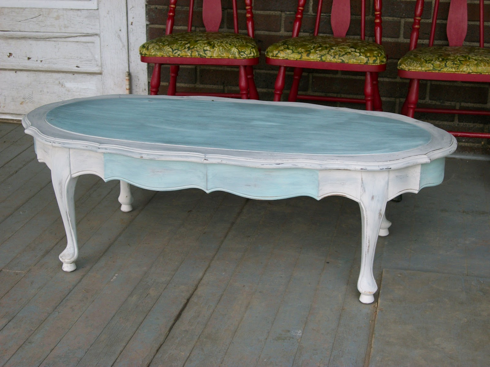 Stairstep boys: My Latest Project - Shabby Chic Coffee Table