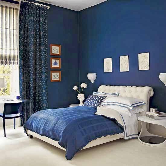 Decoración dormitorio azul