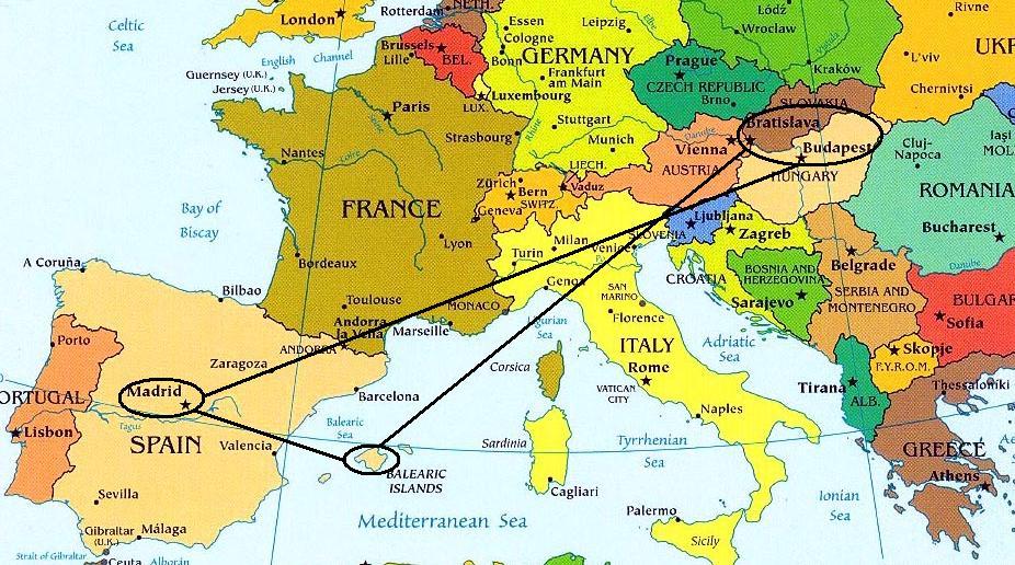 Resultado de imagen para budapest en el mapa de europa