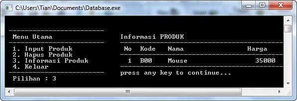 Source Code Program Database Pascal