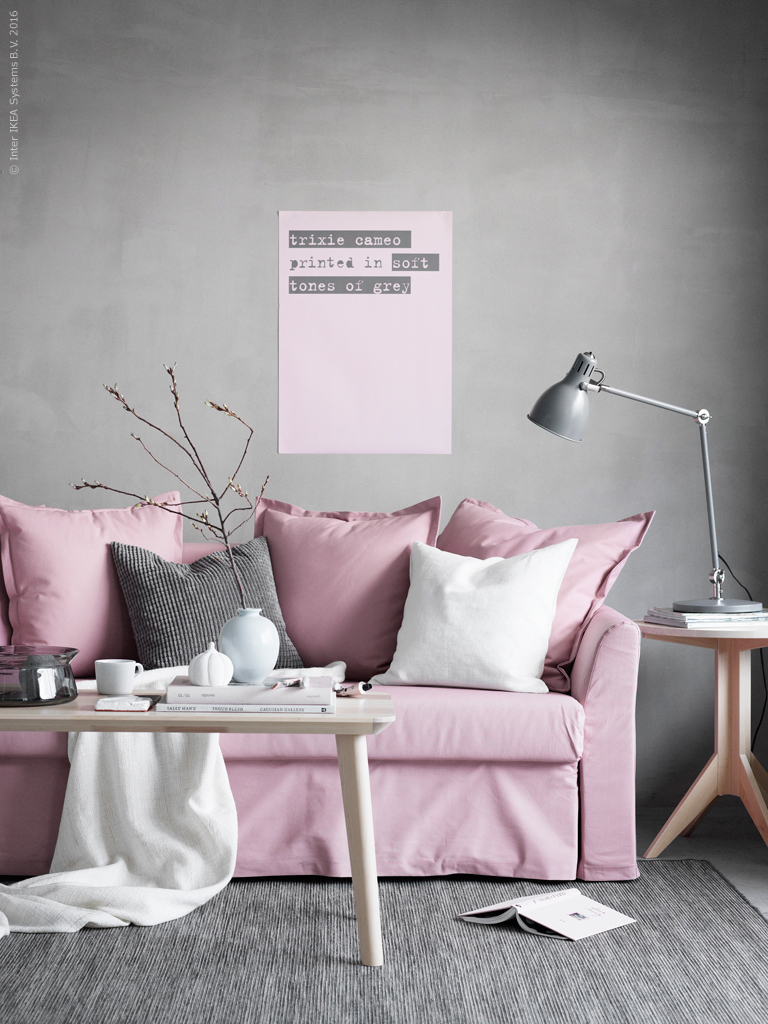 the dreamiest pink ikea couch daily dream decor. Black Bedroom Furniture Sets. Home Design Ideas