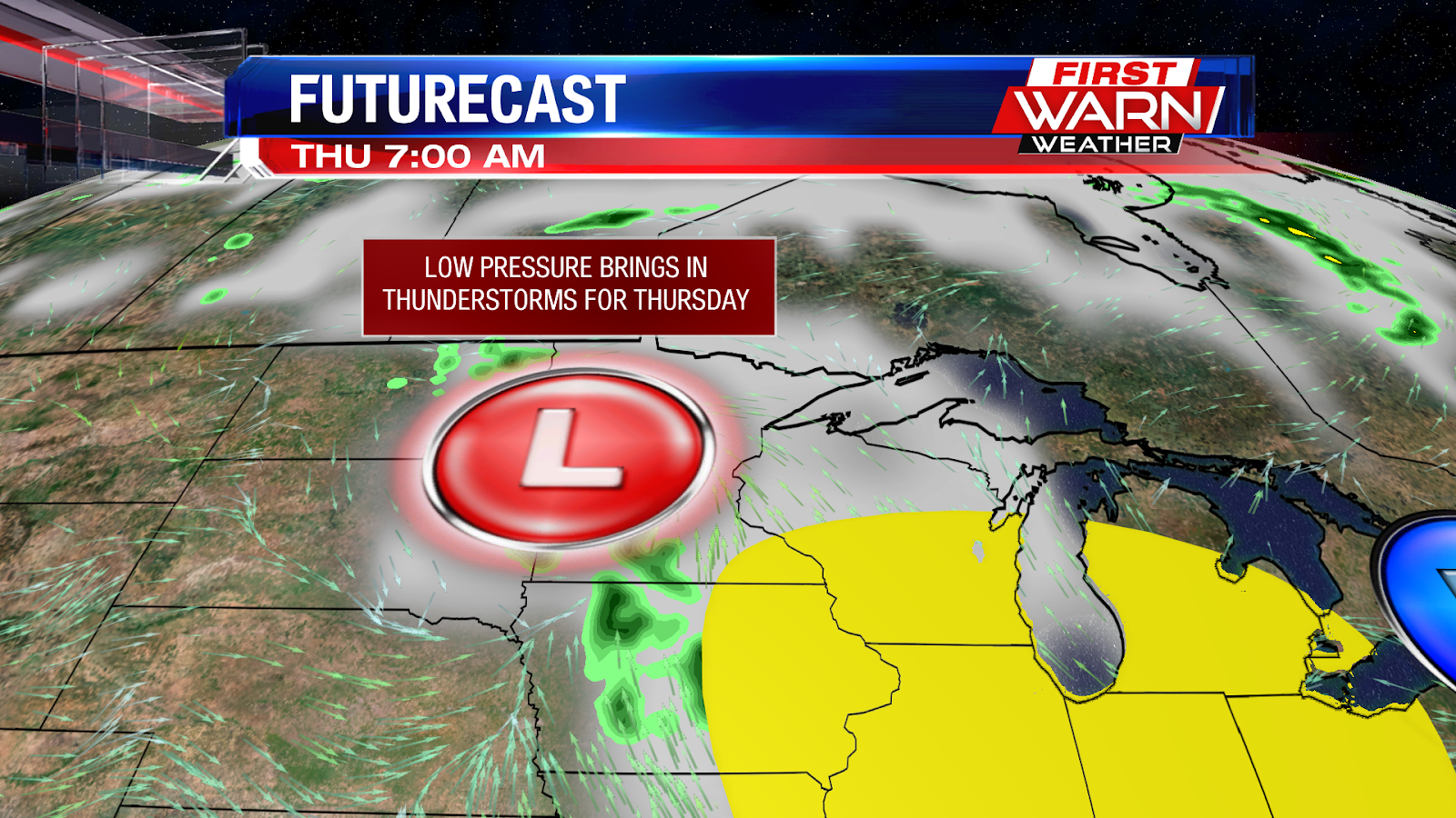 you ll want to take advantage of the nice weather today and wednesday because once thursday arrives we ll have a low pressure system track into the area